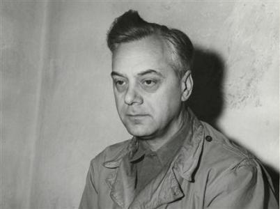 Defendant Alfred Rosenberg, the former Chief Nazi Party Ideologist, sits in his jail cell during the 1945 trial of war criminals at Nuremberg