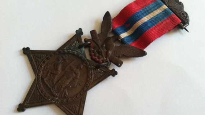 Joshua Chamberlain's original Medal of Honor (Courtesy Pejepscot Historical Society)