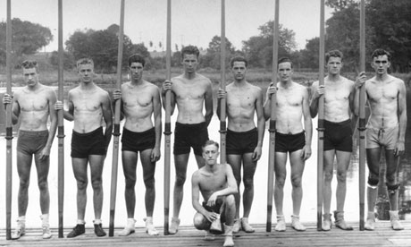 The US Olympic rowing team in 1936