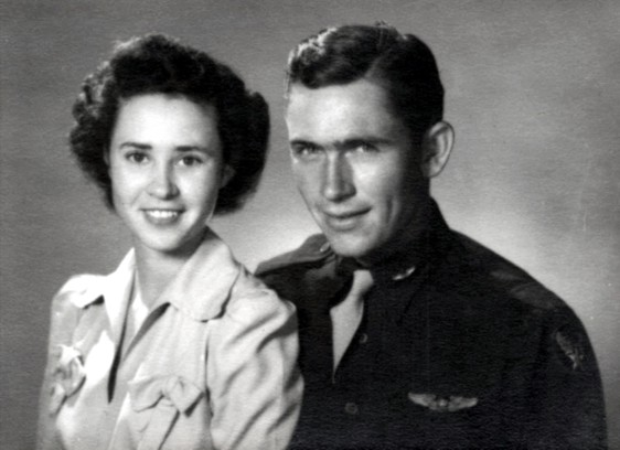 Peggy and her husband Lt. Billie D. Harris