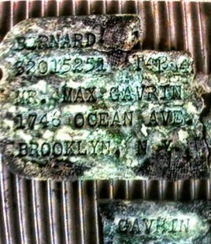 Bernard Gavrin's dog tags were found in Saipan last year. Photo provided by David Rogers (Sun Sentinel / April 15, 2014)